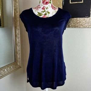 Vince. | Short Sleeve Navy Blue Top Size Small